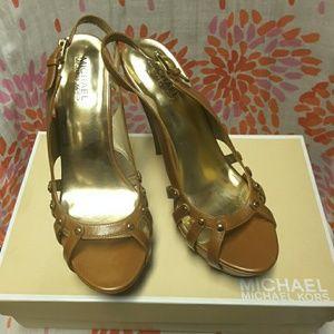 Michael kors PRESSLEY sling back shoes genuine